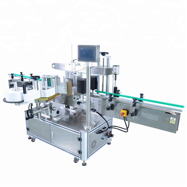 Prispôsobený automatický stroj na nanášanie štítkov na okrúhlu fľašu s čistiacim prostriedkom