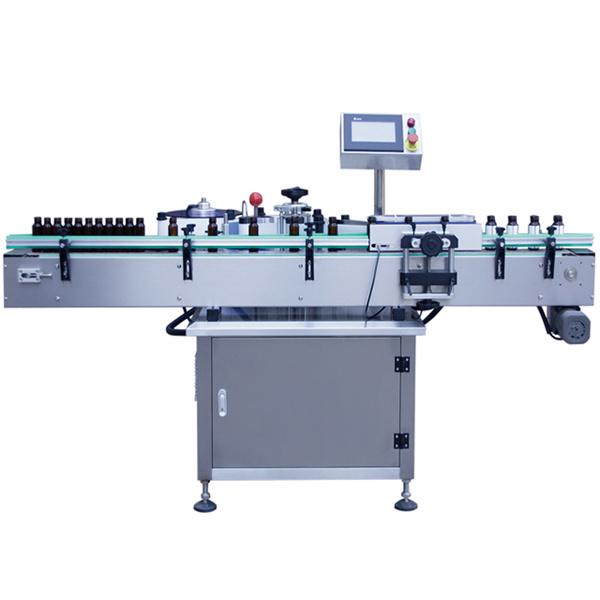 Etiketovací stroj na samolepiace štítky na sklenené fľaše, Etiketovací stroj na sklenené nádoby