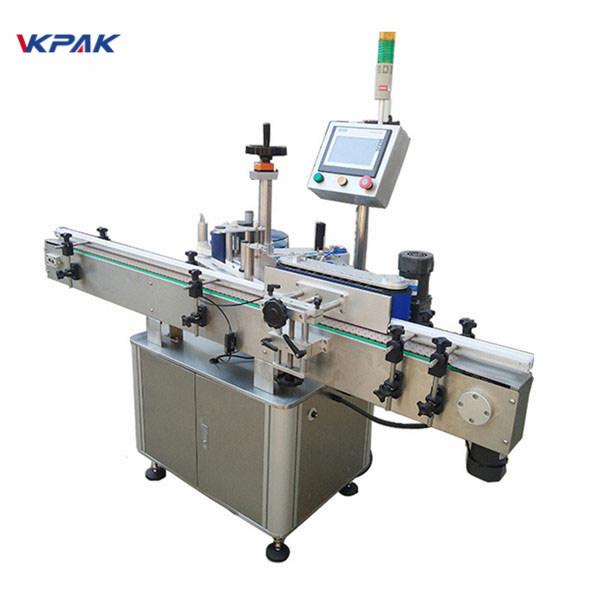 Vysokorýchlostný etiketovací stroj na okrúhle fľaše pre automatické mliečne výrobky a džúsy
