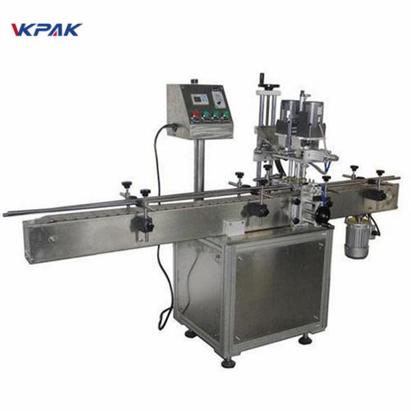 Priemyselný obojstranný stroj na označovanie okrúhlych fliaš pre kozmetické výrobky