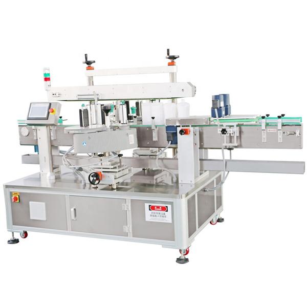 Predný a zadný štítkovací stroj na nanášanie pracích prostriedkov na štítok na fľašu so strojovým olejom
