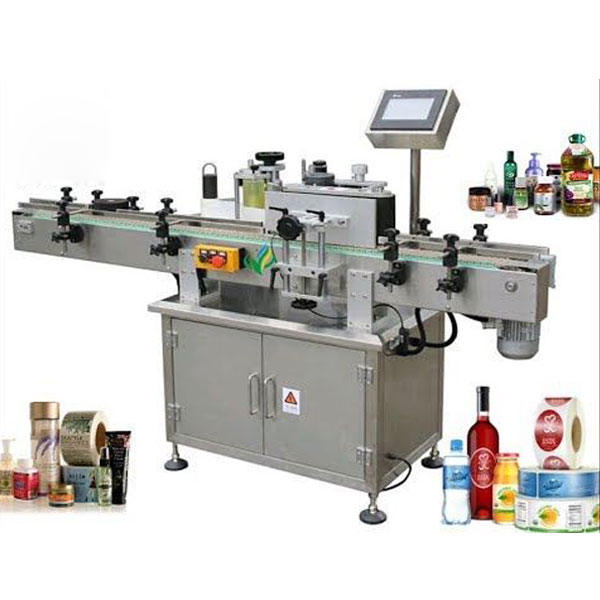 Stroje na označovanie okrúhlych fliaš, aplikátor štítkov omotajte okolo