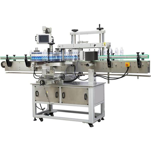 Štvorcový obal okolo etiketovacieho stroja