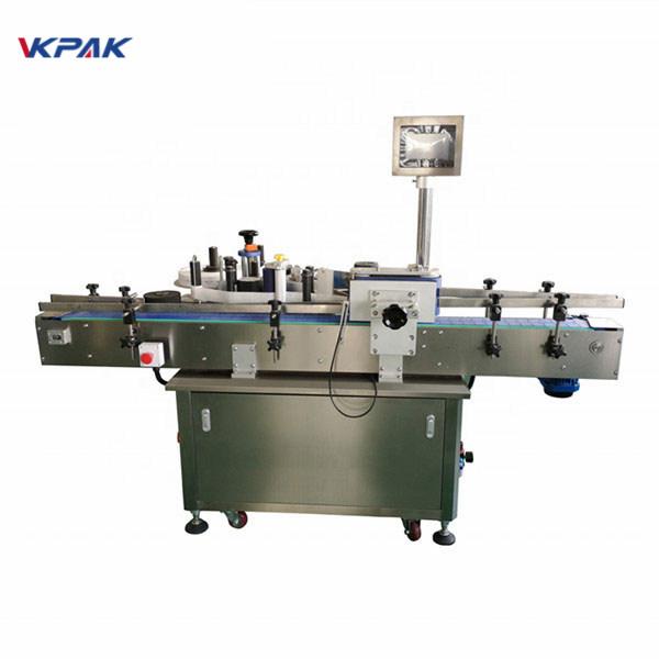 Štandardný automatický stroj na označovanie okrúhlych fliaš vpredu a vzadu