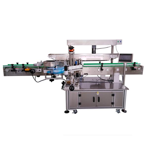 Samolepiaci etiketovací stroj s tromi štítkami