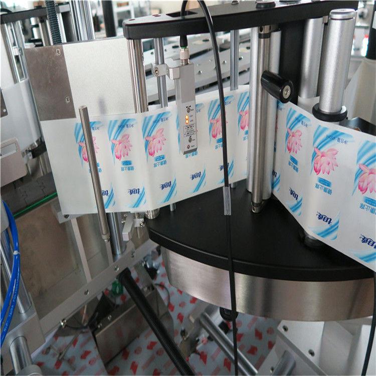 Automatický etiketovací stroj na štítky s okrúhlymi fľašami so šesťhrannou hlavou s jednou alebo dvoma stranami