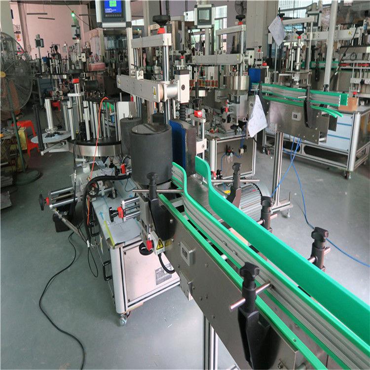 Obojstranný samolepiaci štítkovací stroj na značenie fliaš, výška 190 mm, max