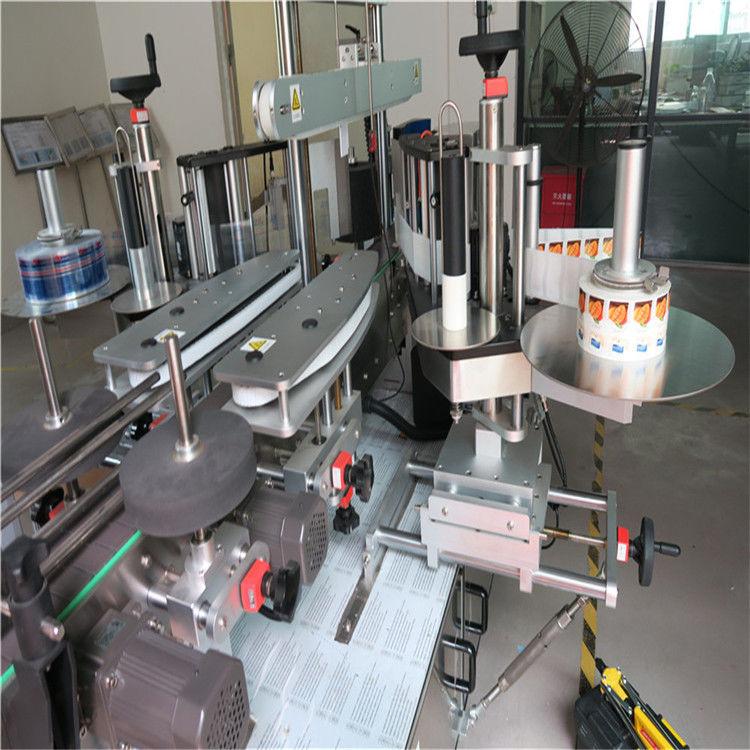 Jednostranný / obojstranný stroj na nanášanie štítkov na okrúhle fľaše