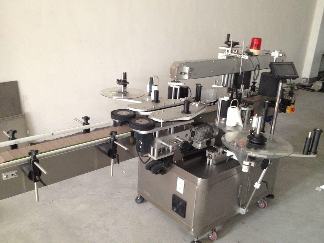 Automatický štítkovací stroj na štítky s dvojitou bočnou fľašou