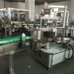 Stroj na označovanie oválnych fliaš prednou zadnou stranou, stroj na nanášanie štítkov so štítkom
