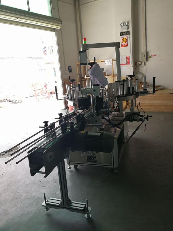 Nálepka predný a zadný štítkovací stroj na oválnej / obdĺžnikovej / hranatej fľaši