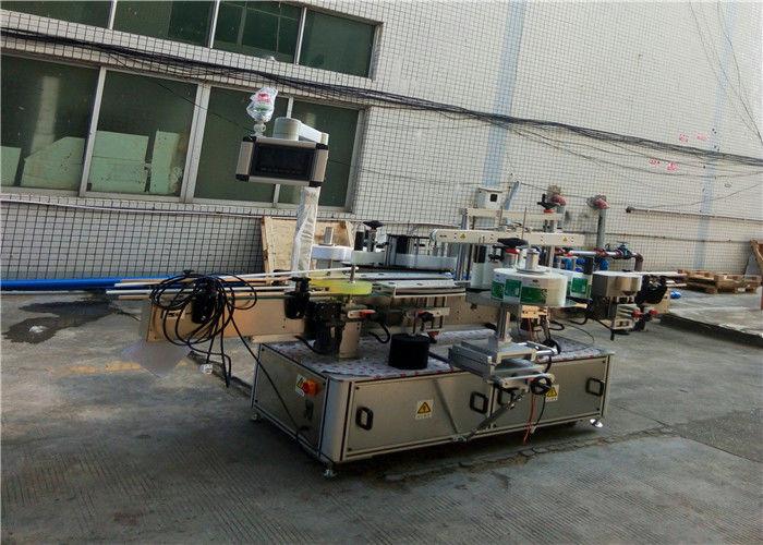 Automatický obojstranný etiketovací stroj na ploché hranaté fľaše